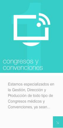 Estamos especializados en la Gestión, Dirección y Producción de todo tipo de Congresos y Convenciones