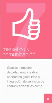 Gracias a nuestro departamento creativo aportamos globalidad e integración de servicios de comunicación y márketing